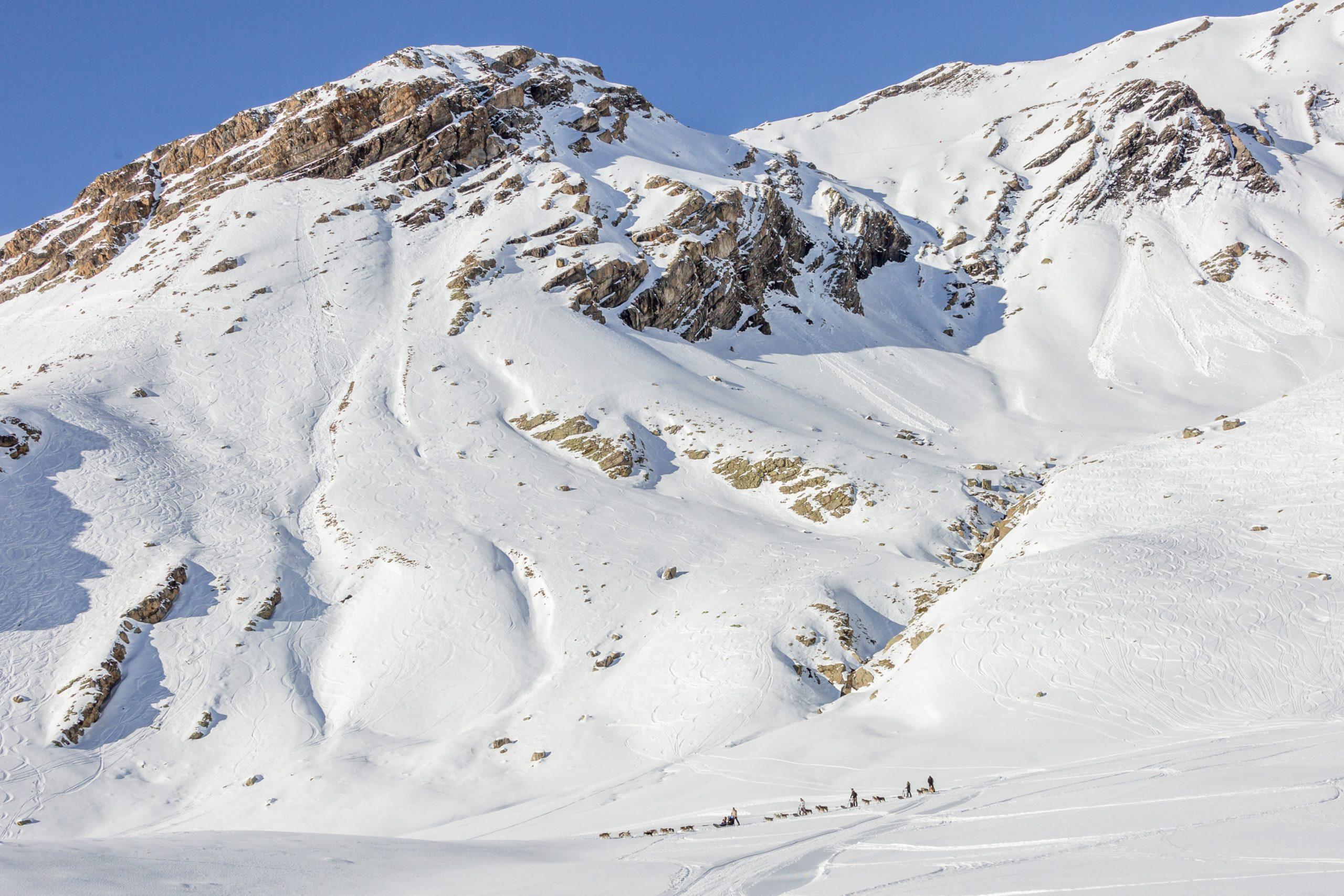 Randonnée aventure Alpi Traineau Orcieres Merlette 1850 Champsaur Hautes Alpes Alpi Traineau Chiens de traineaux