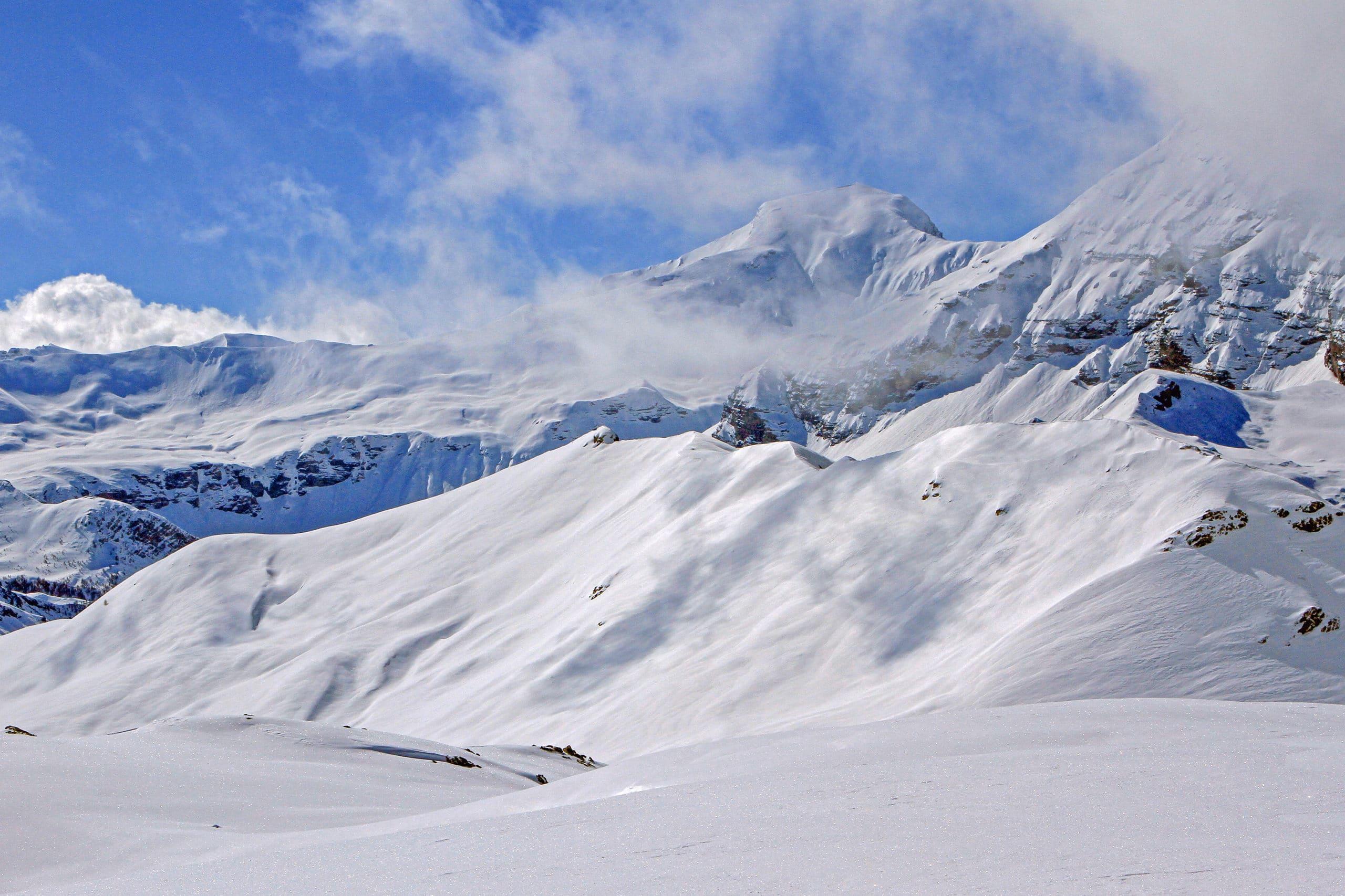 Plateau de Rocherousse Alpi Traineau Orcieres Merlette 1850 Champsaur Hautes Alpes Alpi Traineau Chiens de traineaux