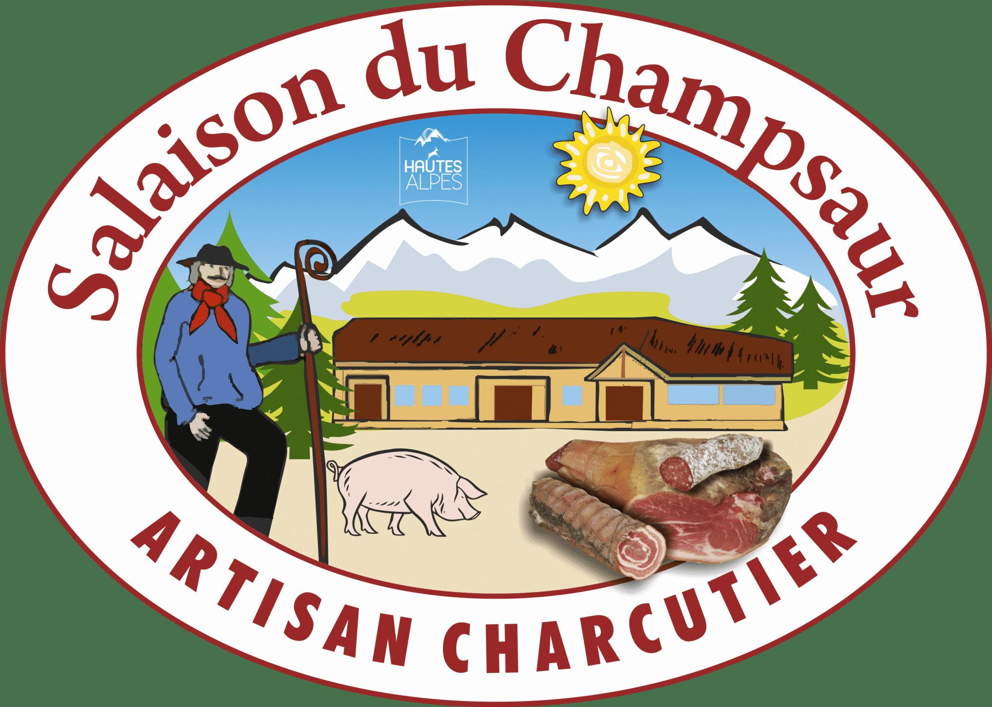 Logo Salaisons du Champsaur Orcieres Merlette 1850 Champsaur Hautes Alpes Alpi Traineau Chiens de traineaux
