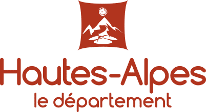 Logo Hautes Alpes Orcieres Merlette 1850 Champsaur Hautes Alpes Alpi Traineau Chiens de traineaux